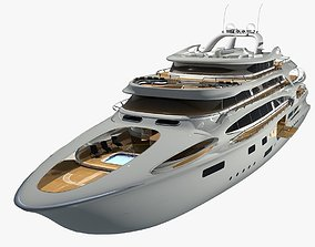 3D model animated Yacht project