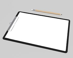 3D model Clipboard File paper Blender Cycles office
