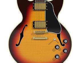 3D model Guitar - Gibson ES Hollow Body - Triburst
