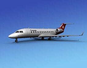 3D model Canadair CRJ100 Crossair