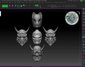 Logan Ronin head and mask 3D print model