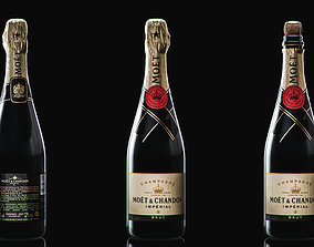 3D asset Champagne Moet And Chandon Imperial Brut 1