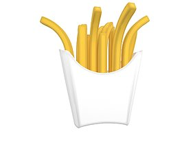 3D asset French Fries v2 003