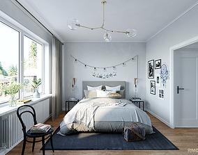 Scandinavian Bed Room 2 3D