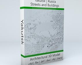 Yakutsk Streets and Buildings 3D model