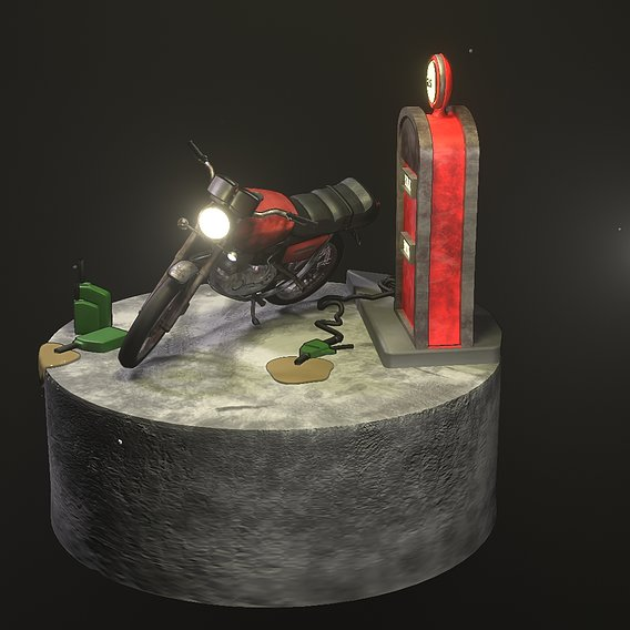 Realistic Motocycle 3D
