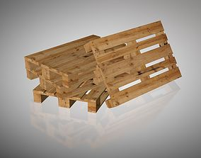 European wood pallet 3D model