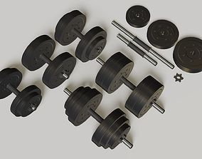 3D model Dumbbells set