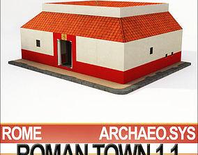 Roman Town House 1 1 Low Poly 3D