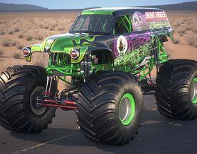 3D model Grave Digger Monster Truck Desert