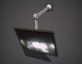 3D asset Wall-mounted monitor