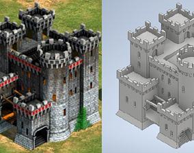 3D print model Teutonic castle - Age of Empires II