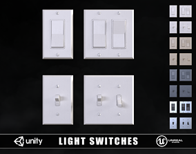Light Switches 3D asset