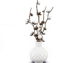 3D model Bouquet cotton