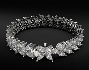 3D print model Neat stylish tennis bracelet with diamonds