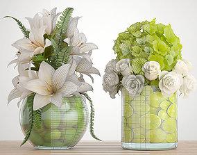 Decorative bouquet of flowers 3D
