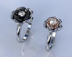 3D print model Flower Engagement Ring