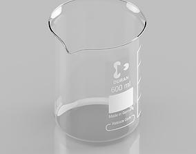 3D model Schott Duran Borosilicate Beaker 600ml