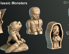 3D printable model Classic Monsters
