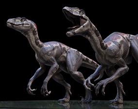 3DVelociraptor rigged realtime