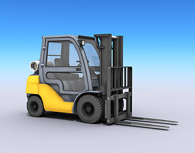 Industrial Forklift 3D model