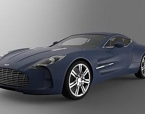 Aston Martin One 77 luxury sport coupe car 3D model