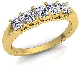 Diamond Ring sapphire 3D printable model