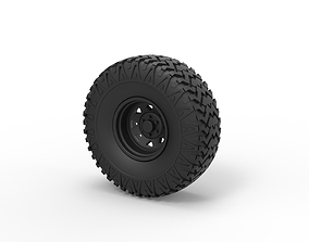 Diecast Offroad wheel 29 3D printable model