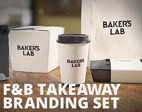 TAKEAWAY PACKAGE BRANDING SET by Mike Kobzar 3D model