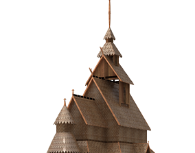 Borgund stave church 3D