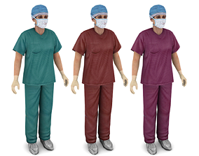 3D asset Woman doctor