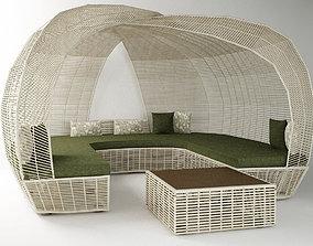 3D printable model garden furniture