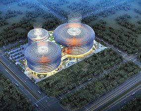 3D Huge modern shopping center 002