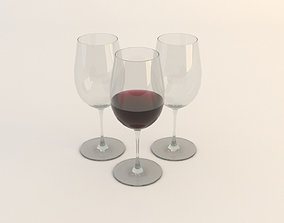 Wine in a Glass 3D model
