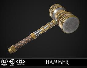 Fantasy Hammer 01 3D asset