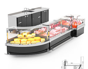 Refrigerated display cases ARONA 3D model