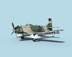 3D model Douglas A-1H Skyraider V16 USAF