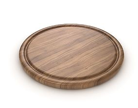 Round Chopping Board 3D