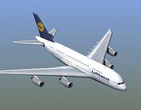 3D A380 Passenger Aircraft