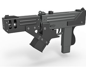 Submachine gun modified MAC-10 from the movie 3D model 3