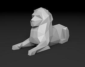 figure low poly lion 3D printable model sculptures