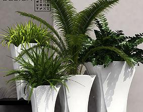 3D Barcelona design flowerpots set 02
