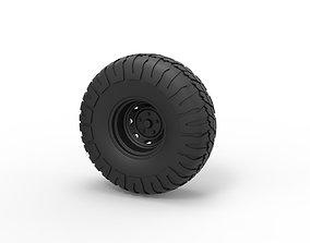 Diecast Offroad wheel 9 3D print model