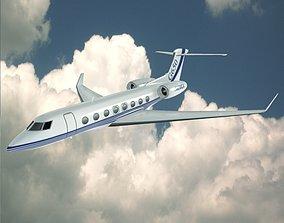 Gulfstream G650 N650 GA lowpoly private 3D model
