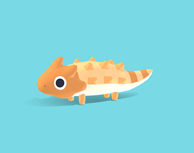 Draco the Horned Lizard - Quirky Series 3D model