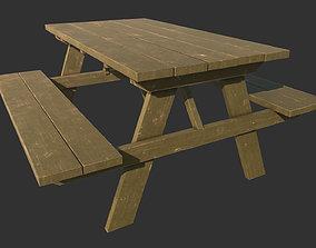 3D model Picnic Park Bench