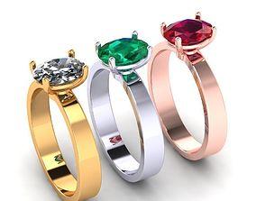 Oval ring disjunct 3D printable model
