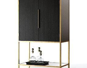 3D model Crate and Barrel Oxford Bar Cabinet