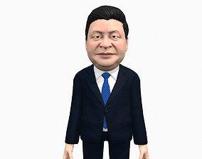 Yi Pinjin caricature 3D asset