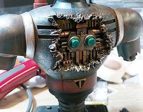tetsujin 28 battle damaged bust figure 3d model